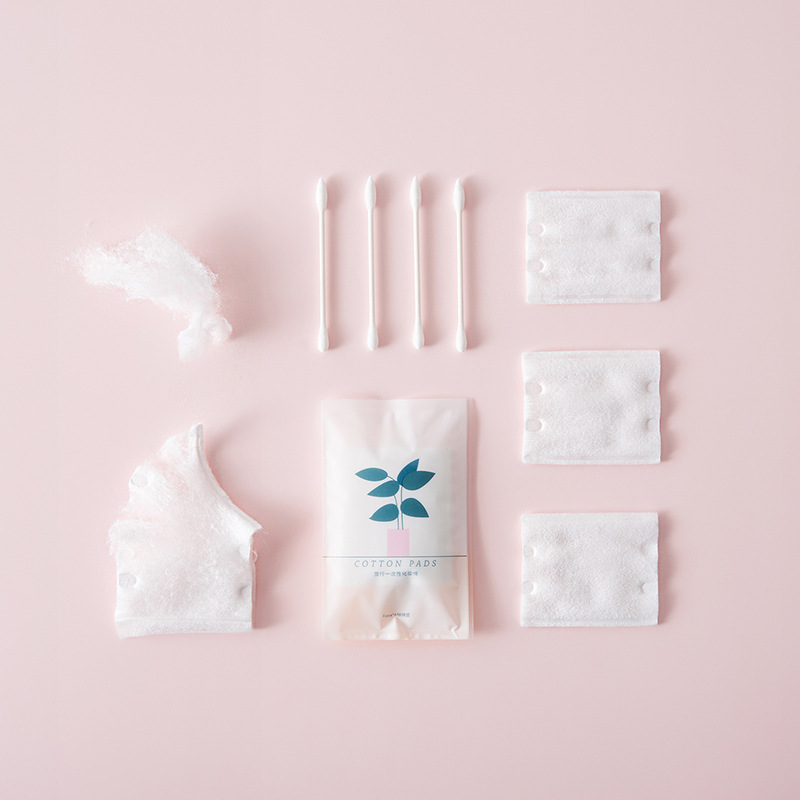 Image 2 - Travel care cosmetic cotton +cotton swab set 10 small bags cleansing beauty makeup cleansing cotton cleaning suit Portable QW130-in Sponges & Scouring Pads from Home & Garden
