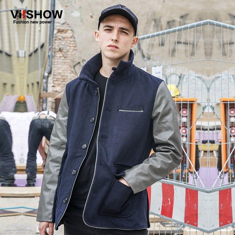 VIISHOW Winter Wool Parka Jacket Men Brand Clothing Male Cotton Autumn Coat New Top Quality Navy Down Parkas Men MC52946