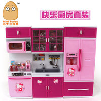 Drop shipping hello kitty Pretend Play Toy Tableware Sets Baby Kitchen Cooking Simulation Model Kitchen girl Christmas gift