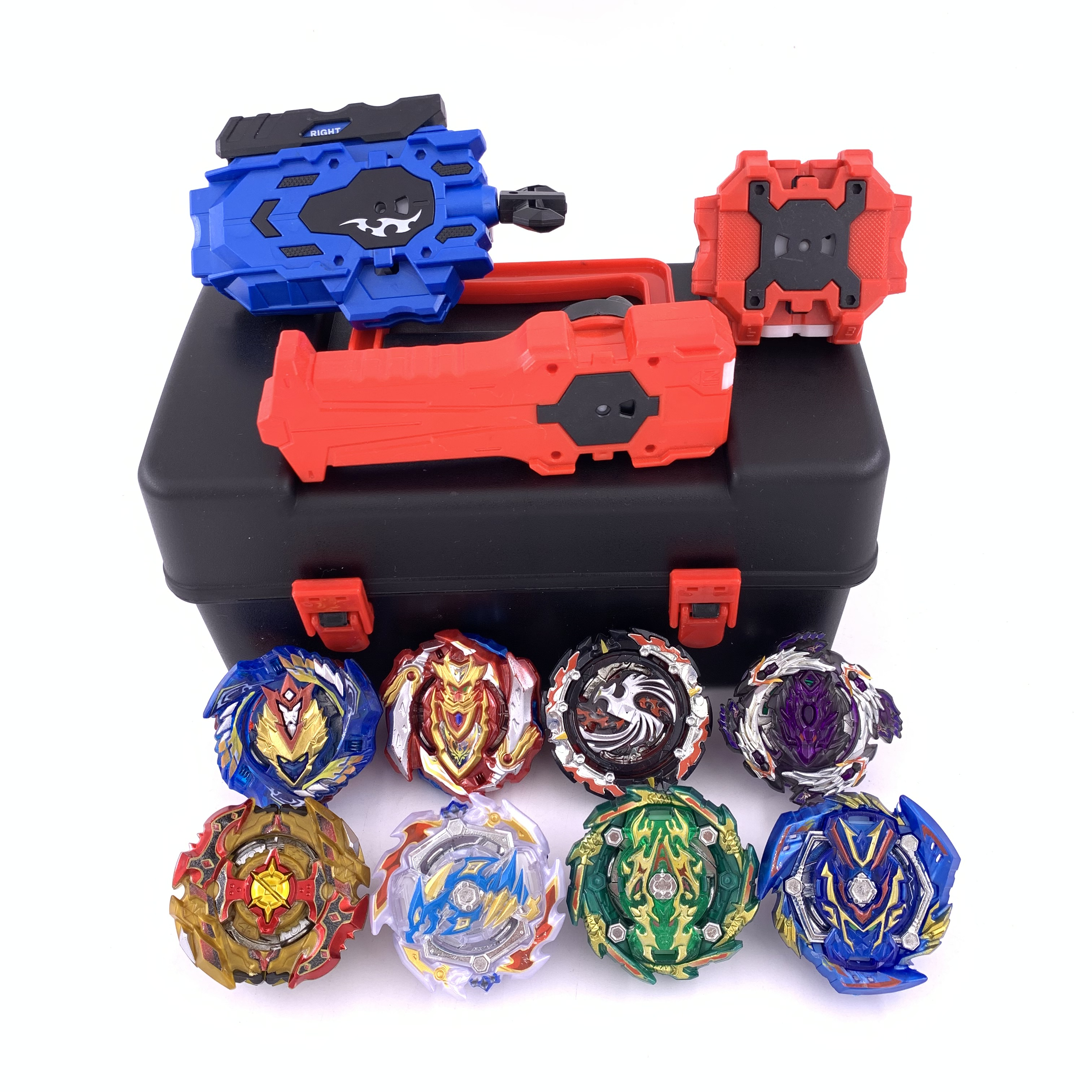 Top Beyblade Burst Bey Blade Toy Metal Funsion Bayblade Set Storage Box With Handle Launcher Plastic Box Toys For Children