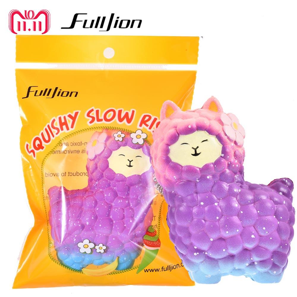 Fulljion Squishy Sheep Alpaca Squish Toys Entertainment Antistress Squisy Novelty Gag Toys Girl Fun Gadget Surprise Popular Gift цена и фото