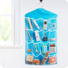 Foldable 16 Pockets Wardrobe Hanging Organizers Socks Briefs Clothing Closet Shoes Underpants Hanger Organizer Z1005(China)