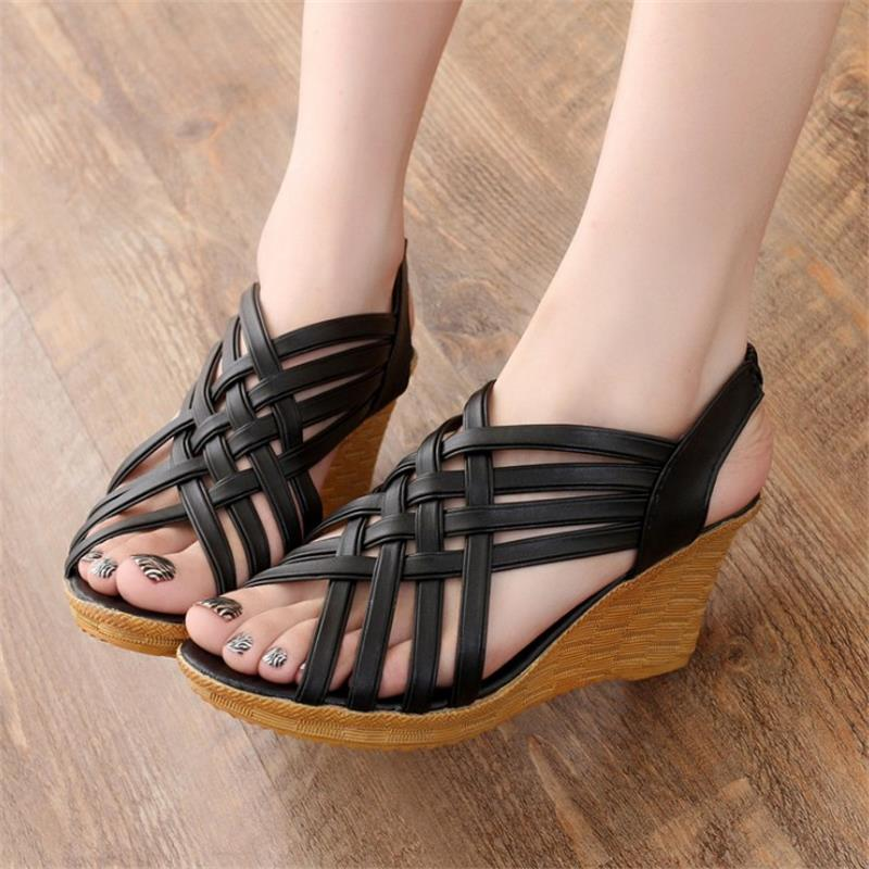 STAINLIZARD Wedges Women Sandals Summer Casual Female Sandal Comfortable Beach Women Shoes Platform Gladiator Ladies HBT604 women sandals 2017 summer shoes woman wedges fashion gladiator platform female slides ladies casual shoes flat comfortable