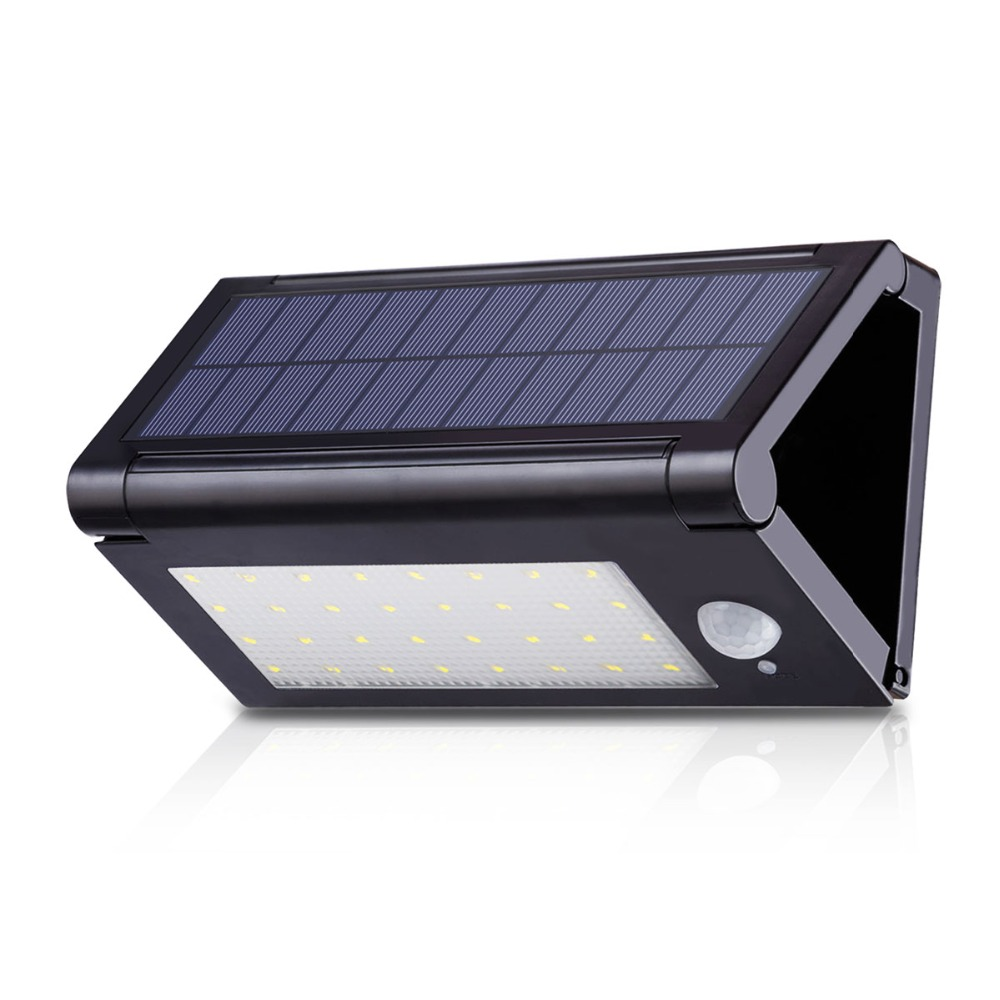 32 LED Collapsible Solar Led Lights Outdoor Garden Decoration Solar Lamp Panel Powered Motion Sensor Wall Street Light ALUVEE