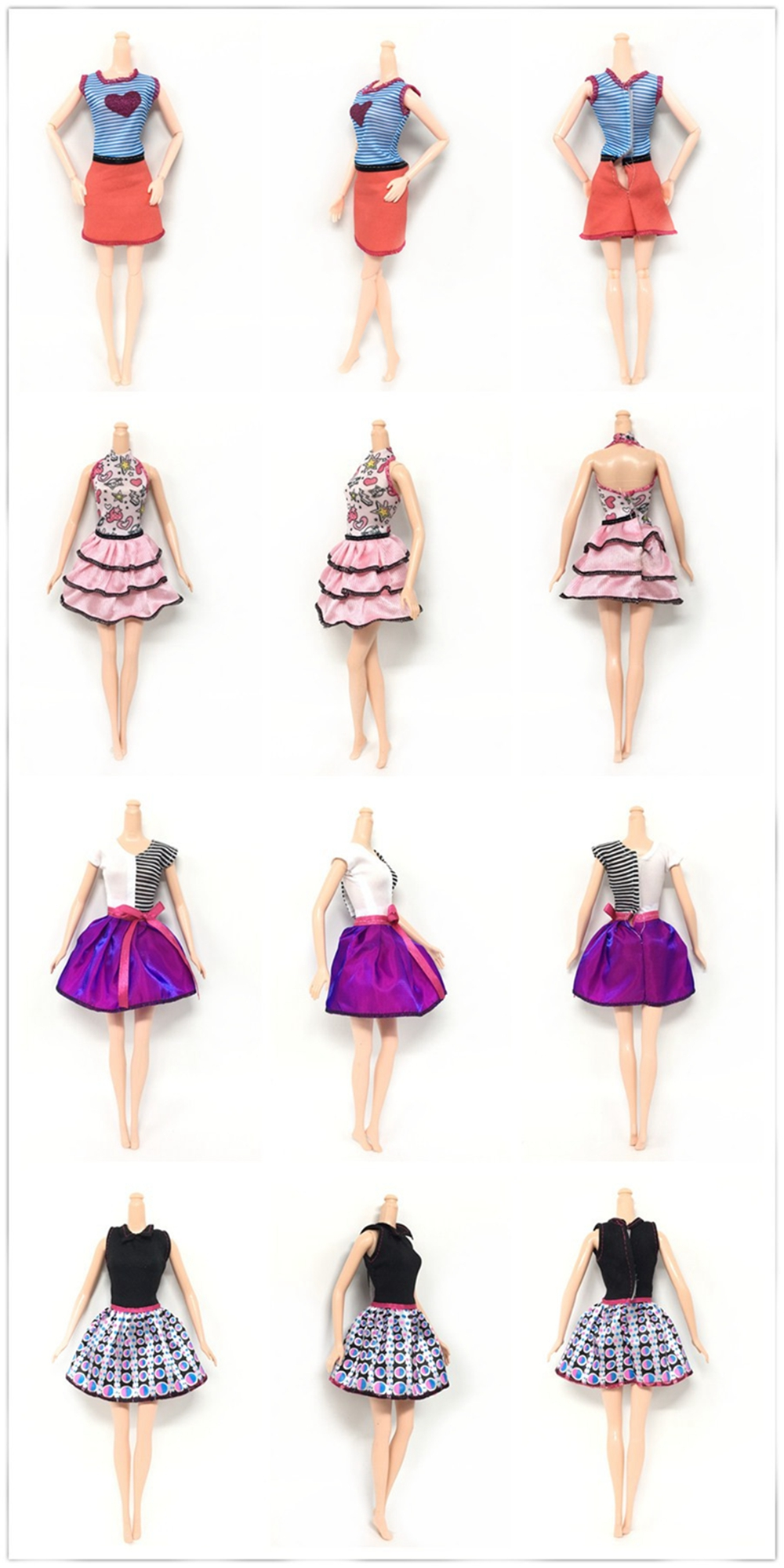 Handmade New Baby Doll Clothes Fashion Princess Girl Doll Dress Evening Party Ball Gown Dress for 29cm 11inch Barbies Doll Suits (23)