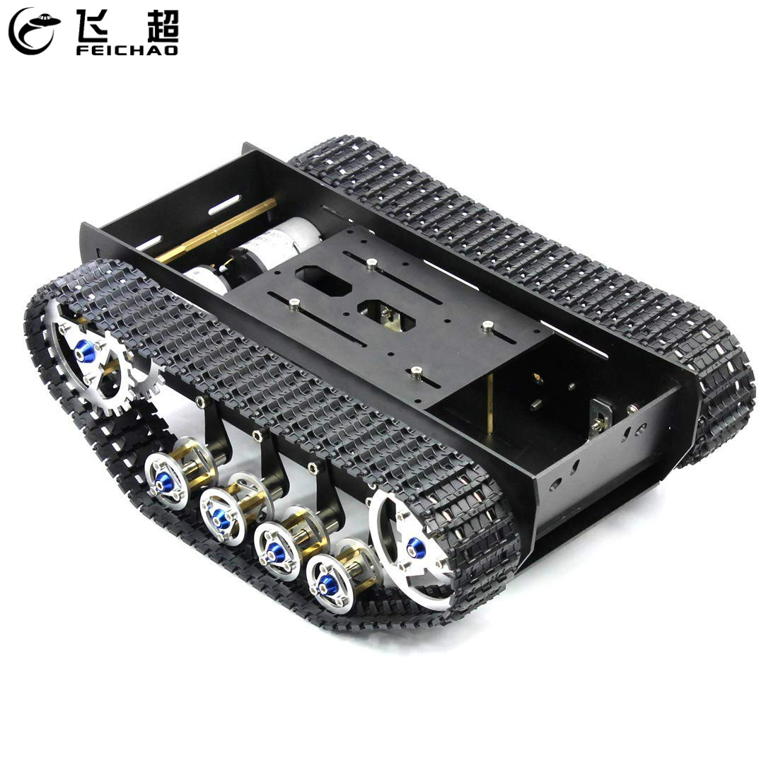Smart Robot Car Chassis Handmade DIY Kit Light Shock Absorbed Damping Balance Tank Robot Chassis for Arduino Parts avc rubber damping nails for chassis fan black 8 pcs