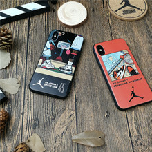 basketball nba AIR jordan 45 case for iphone X XS MAX XR 10 8 7 6 6s plus cases luxury soft silicone phone cover fundas coque(China)