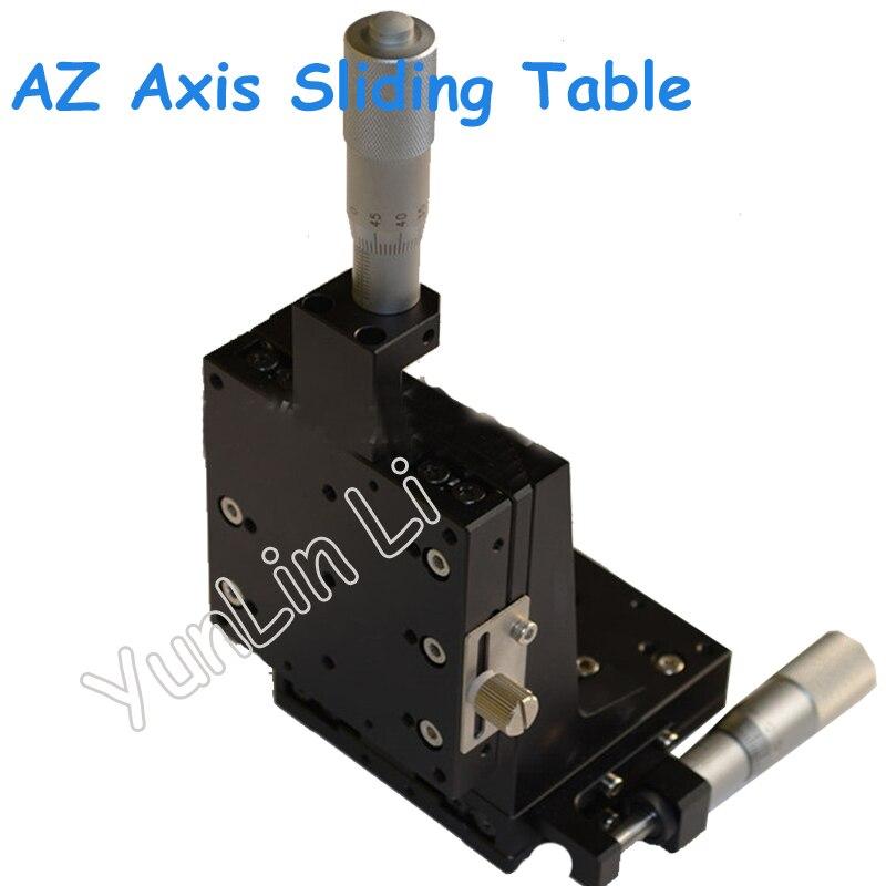 80*80mm Manual Sliding Table AZ Axis Vertical Lift Precision Displacement Table Straight Line Cross Rails CZSJ-XZ80-C