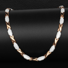 Energy Necklace Magnetic for Women Therapy Power Necklaces for Arthritis Female Healing Jewelry Chain & Link collar new korean luxury gold color stainless steel magnetic necklaces for women power magnetic germanium necklace energy jewelry