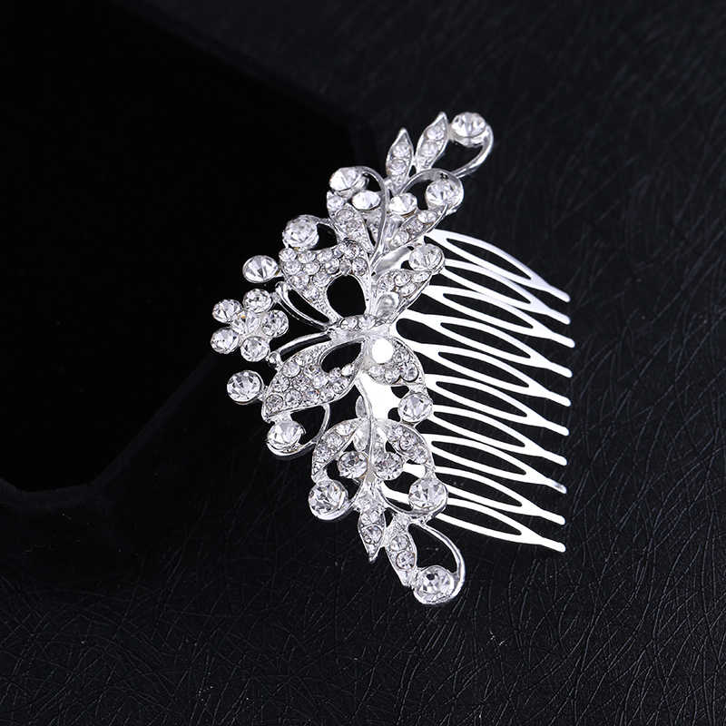 ... Bridal Rhinestone Crystal Butterfly Headpiece Headwear Hair tiara Comb  Women s Hair Accessories HOT sale Free Shipping ... 2d4060f8745c