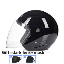 Black free shipping 2018 casco capacetes motorcycle helmet retro vintage motocross helmet 3/4 open face scooter helmets M L XL цена
