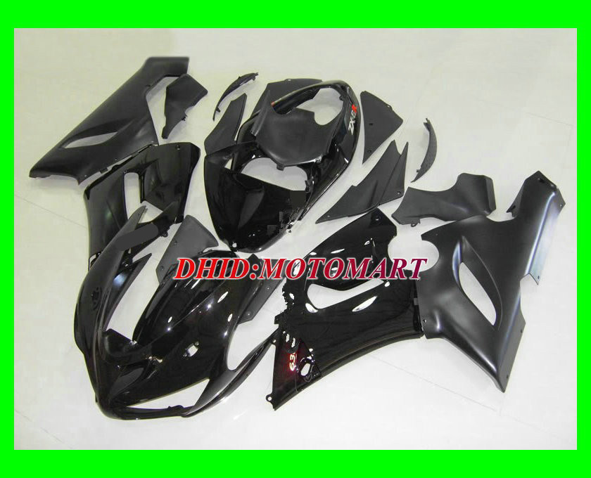 Motorcycle Fairing kit for KAWASAKI Ninja ZX6R 05 06 ZX6R 636 2005 2006 Matte& gloss black ABS Fairings set +7 gifts SX18