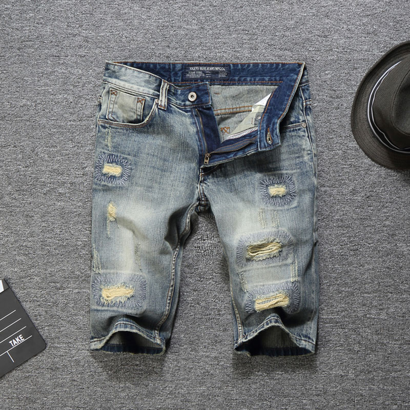 2019 Summer Fashion Men Jeans Shorts Ripped Jeans For Men Denim Shorts Street Youth Casual Beach Shorts Men Jeans,New Men Pants