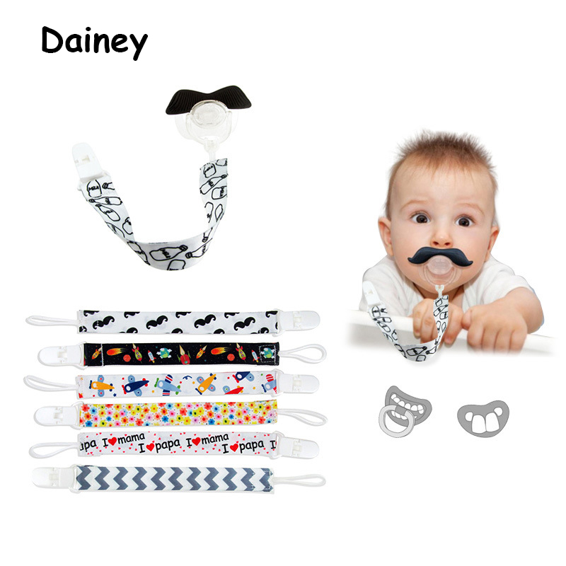 Baby Pacifier Clip Chain Ribbon Holder Chupetas Soother Pacifier Clips Leash Strap Nipple Holder For Infant Feeding BNZ09