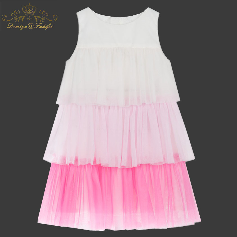 купить Baby Girls Dress Summer Costume for Kids Clothing 2018 Children Party Tiered Dresses for Girls Clothes Princess Flamingo Dress онлайн