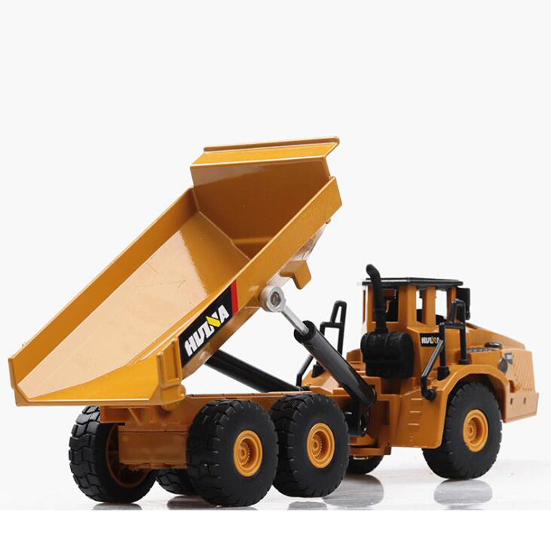 20CM 1/50 Scale Truck Model Die-cast Alloy Metal Car Tractor Articulated Dump Excavator Toy Engineering Toy For Kids Collection