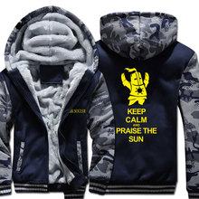 New Winter Warm Game Dark Souls hoodie praise the sun Hooded Coat Thick Zipper men casual Jacket Sweatshirt