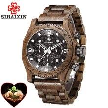 Wood Men Watches 2018 Luxury Brand Designer Military Waterproof Quartz Sport Watch Stainless Steel Case Male Clock Dropshipping