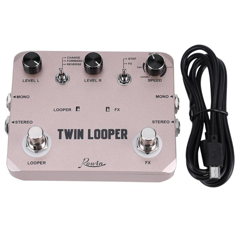 Rowin LTL 02 Twin Guitar Effect Pedal Looper Station Electric Guitar Effect Pedal Loop Station Music