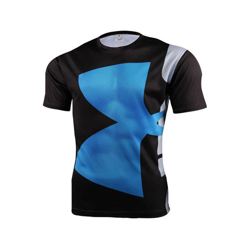 Hohe Qualität Polyester 3D Gedruckt T-shirts Männer Compression - Herrenbekleidung - Foto 4