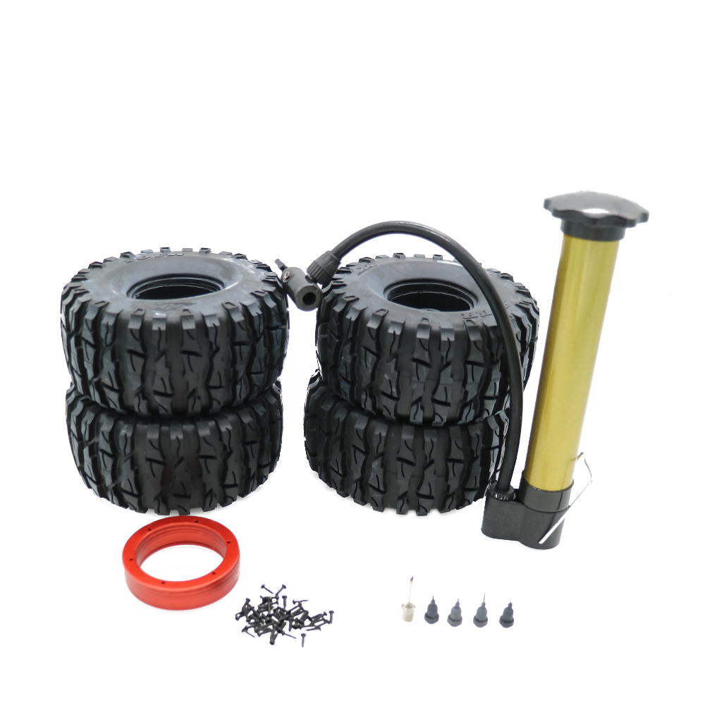 RCAWD Multicolor Air Filled Inflated Width 62mm 2.2 Bead Lock Wheel Tire S Tread For 1:10 Rock Crawler Monster Truck Q2 004