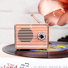 Retro Wireless Bluetooth Speaker Portable Mini Loudspeaker Stereo Music Surround Subwoofer Outdoor Speaker Sound System Radio цена и фото