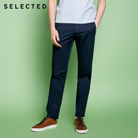 SELECTED slight stretch Cotton-blend splicing leisure long pants S|4181W2503 Casual Pants