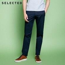 Seçilen hafif streç pamuk karışımlı ekleme eğlence uzun pantolon S