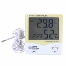 Big sale Digital LCD Thermometer Hygrometer Electronic Temperature Humidity Meter Weather Station Indoor Outdoor Tester Alarm Clock