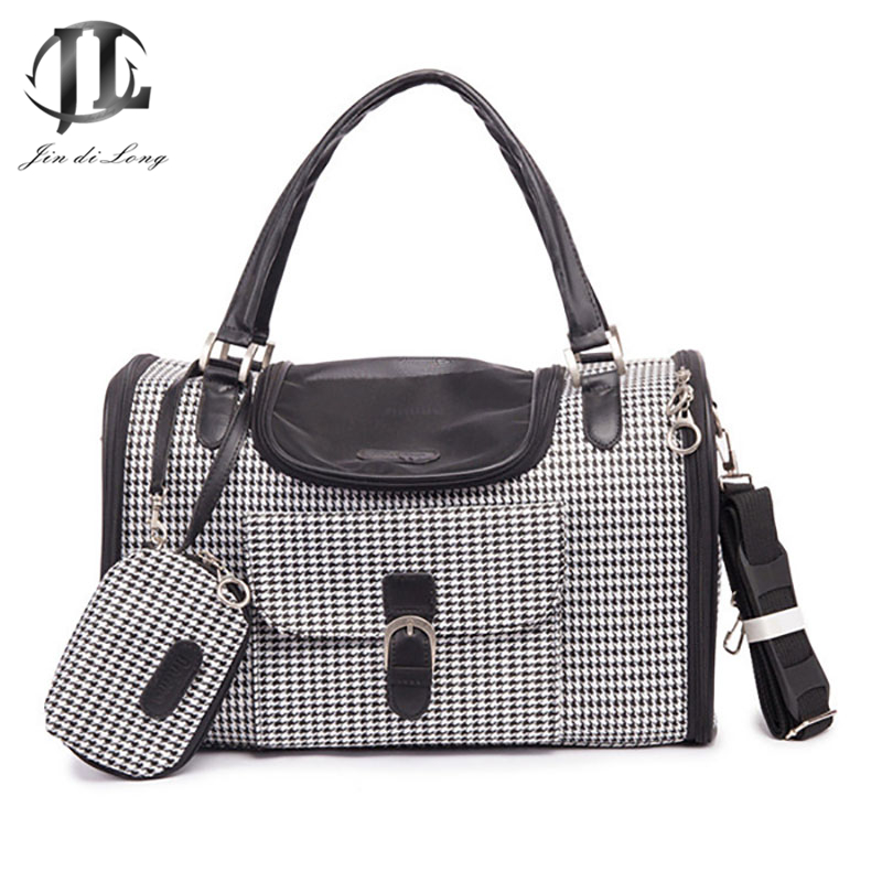 2017 Newest Fashion PVC Leather Net Dog Pet Carrying Handbag Outdoor Hiking Tote Handle Bags