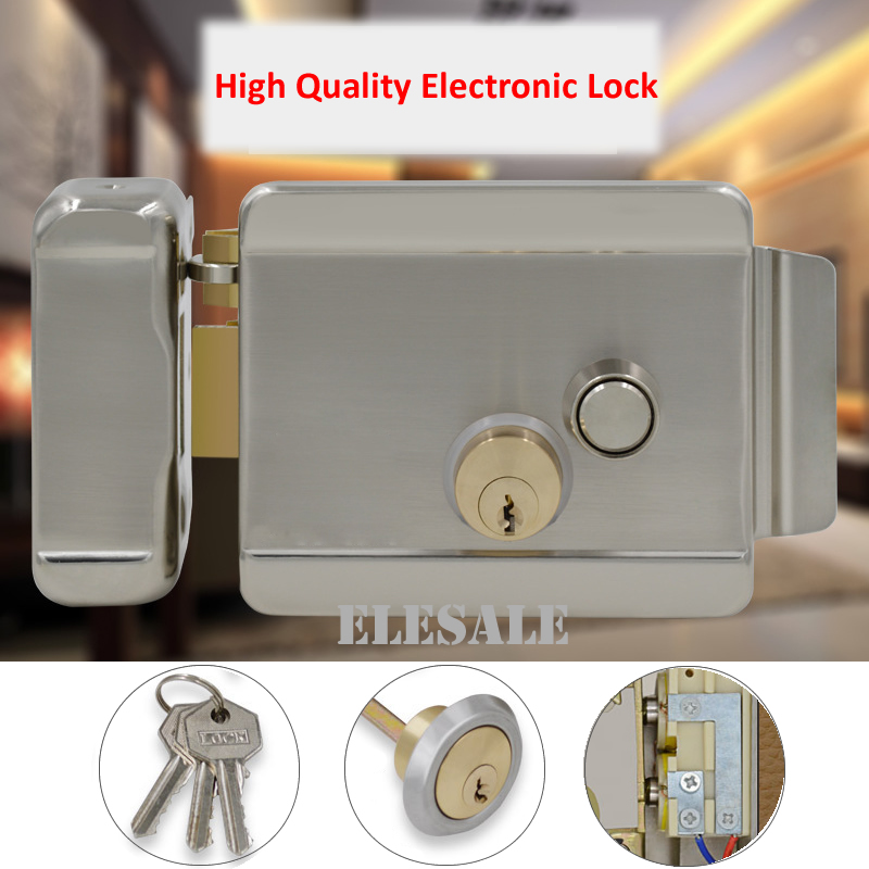 Brand New Electric Control Lock Electronic Magnetic Door Lock For 12V DC Access Control System Video Intercom Door Phone System free shipping new video intercom electronic door lock for access control system door phone doorbell door intercom in stock