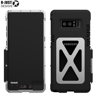 R Just Flip Case For Samsung Galaxy Note 8 Note8 6 3 Iron Man Stainless Metal