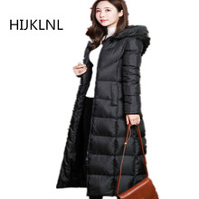 2019 New Women's Winter Down Jacket Long Paragraph Over The Knee Outer Slim Hooded Thick Warm OUTERWEAR Tq011 цены онлайн