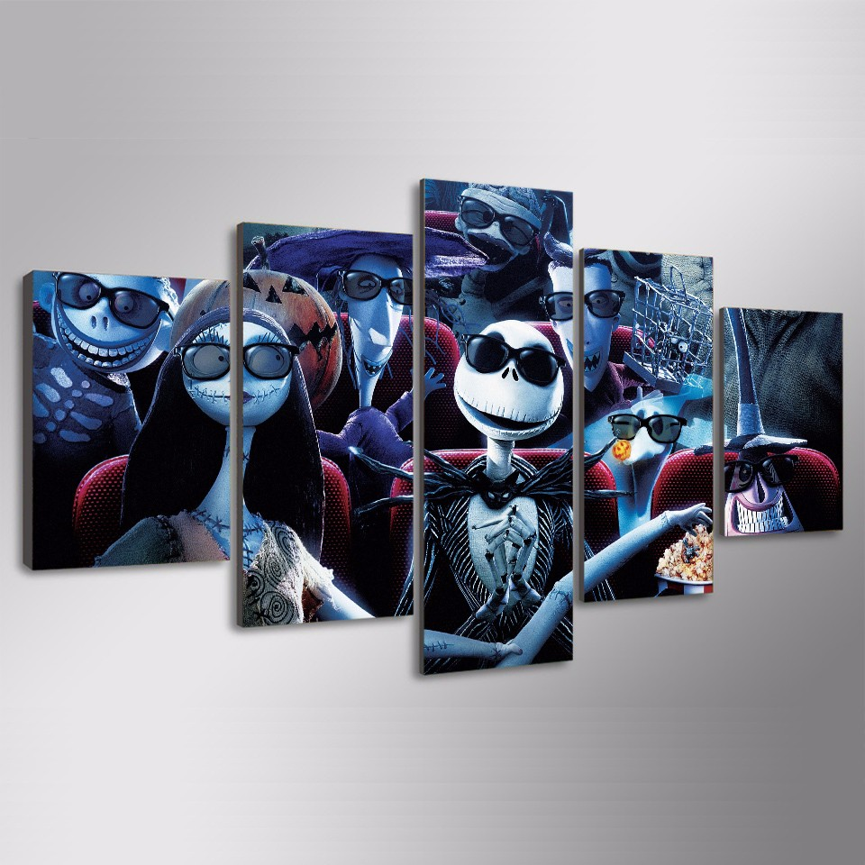 hd printed nightmare before christmas painting canvas print room decor print picture canvas decoration unframed in painting calligraphy from home garden