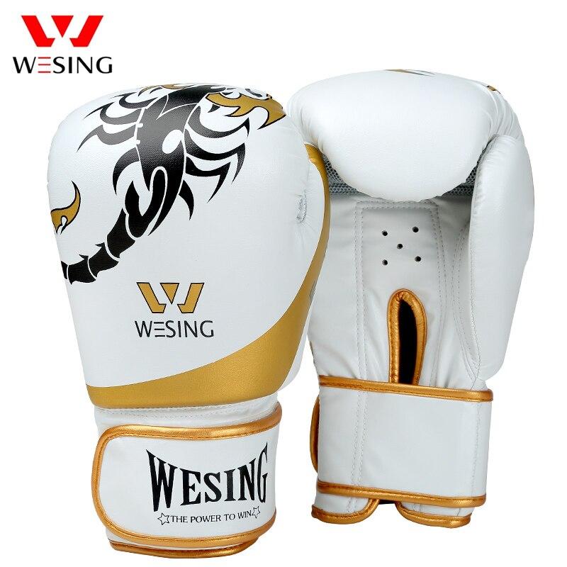 Wesing Neue Scorpion Muster Boxen Handschuhe Muay Thai Handschuhe Guantes De Boxeo Kickboxen Sanda Training Handschuhe luva boxe