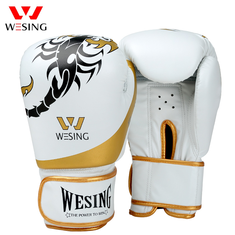 цены Wesing New Boxing Gloves Muay Thai Gloves Guantes De Boxeo Kickboxing Sanda Training Gloves Scorpion Pattern luva boxe