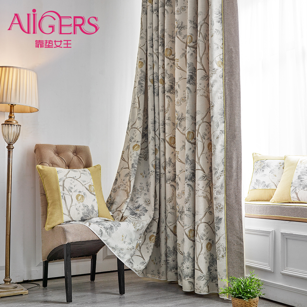 Avigers Pack of 2 Luxury Curtains Tiebacks Pastoral Thermal Insulated Blackout Grommet Hooks Top Window Curtains, 2 Panels