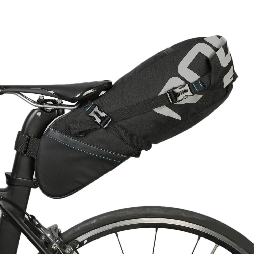 ROSWHEEL 10L 100% Waterproof Bike Bag Saddle Bag Cycling Mountain Bike Back Seat Rear Bag Bicycle Accessories ATTACK SERIES roswheel bicycle bag men women bike rear seat saddle bag crossbody bag for cycling accessories outdoor sport riding backpack