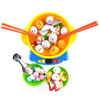 40pcs Pretend Play Children Kitchen Food Toys Set for Girls Boys Hot pot Make food Appliances Chopsticks use