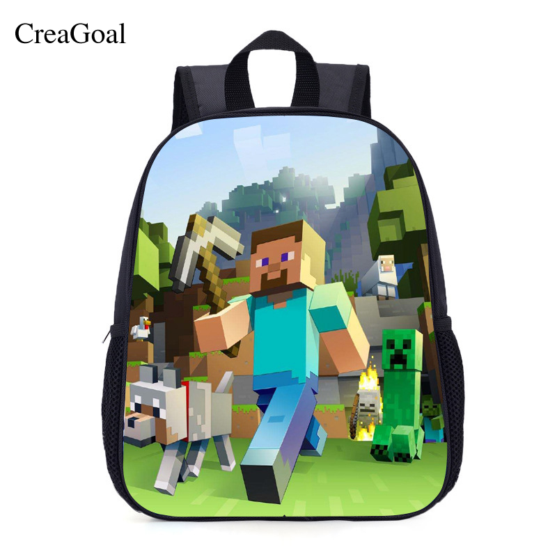 New Minecraft Backpack Boys Girls Multifunction Canvas Creeper Backpacks Unisex Mochilas Infantil Personagem School Bags