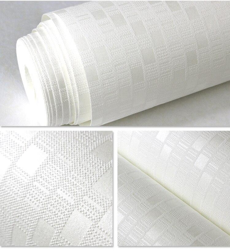 Customize Modern Minimalist Plain Phaedra Non-woven Wallpaper Home Improvement Project Decor 3D Grid Waterproof Wallpaper