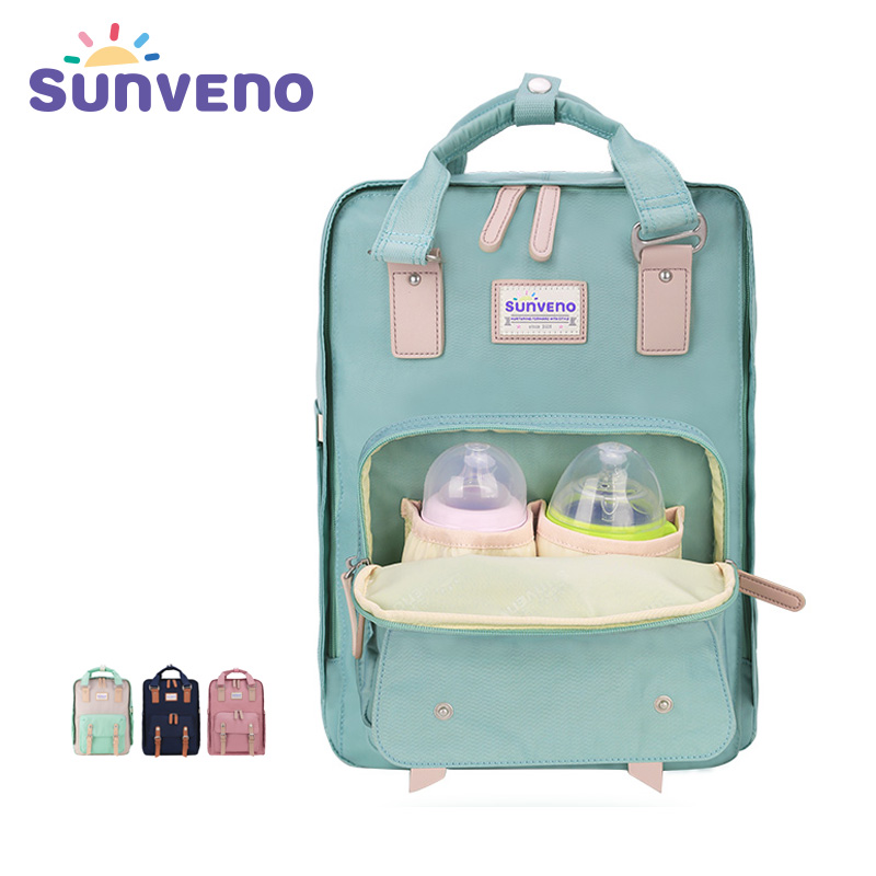 SUNVENO Designer Diaper Bags Multifunctional Backpack Large Capacity Multicolor Nappy Bag Fashion Mother Maternity Bag free shipping multifunctional mother bag large capacity nappy bags backpack maternity bag egregiousnessbaby diaper bag
