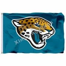 Jacksonville Jaguars Logo Flag 3ft X 5ft Polyester NFL Jacksonville Jaguars Banner  Flying Size No. a1b8e676d