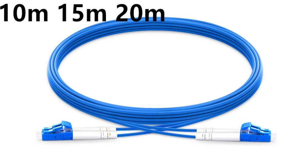 10m 15m 20m LC UPC to LC UPC Duplex Single Mode Armored PVC (OFNR) Patch Cable-in Fiber Optic Equipments from Cellphones & Telecommunications
