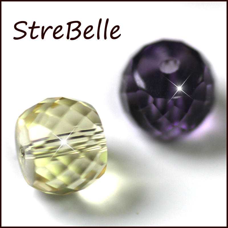 StreBelle Wholesale 8x6mm AAA Grade 72Face DIY Jewelry Beads Clumn Shape 50pcs in Beads from Jewelry Accessories