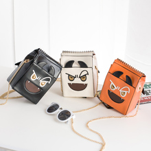 2016 Real Single Cell Phone Pocket No Shoulder Bags Minaudiere Appliques Chains New Handbags Mini Bag Chain Funny Mobile Phone