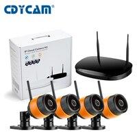 4CH Wireless 1 0MP Array Mini Camera Kit 720P HD P2P ONVIF NVR WIFI IP Camera