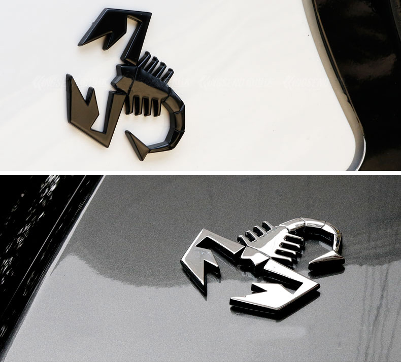 Scorpion Cool Logo Metal Sticker Custom Text Personalized Stereo Letter Motorcycle Car Stickers DIY Emblem Sticker Car Styling