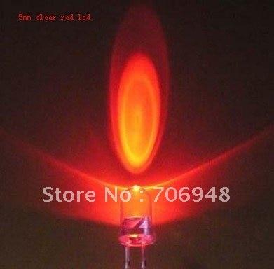 Микс 100 шт 5 мм круглый ультра яркий красный мигающий светодиодный диод 1,5 Гц