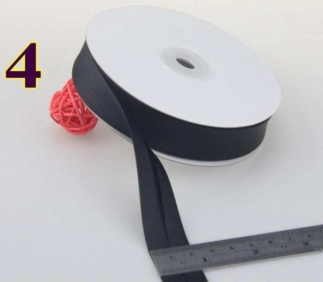 Wide gray floral satin bias Ribbon folded 20mm